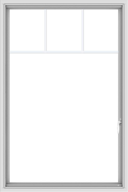 WDMA 36x54 (35.5 x 53.5 inch) White uPVC Vinyl Push out Casement Window with Fractional Grilles