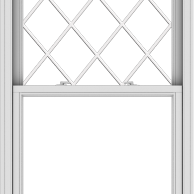WDMA 36x57 (35.5 x 56.5 inch)  Aluminum Single Double Hung Window with Diamond Grids