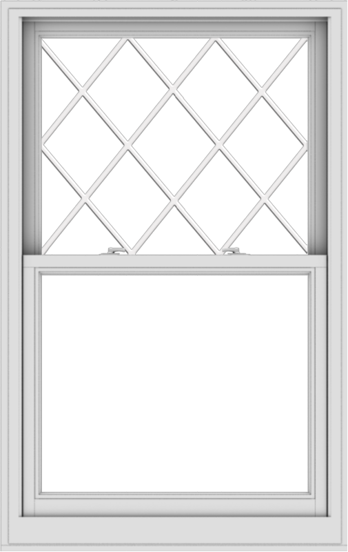 WDMA 36x57 (35.5 x 56.5 inch)  Aluminum Single Double Hung Window with Diamond Grids