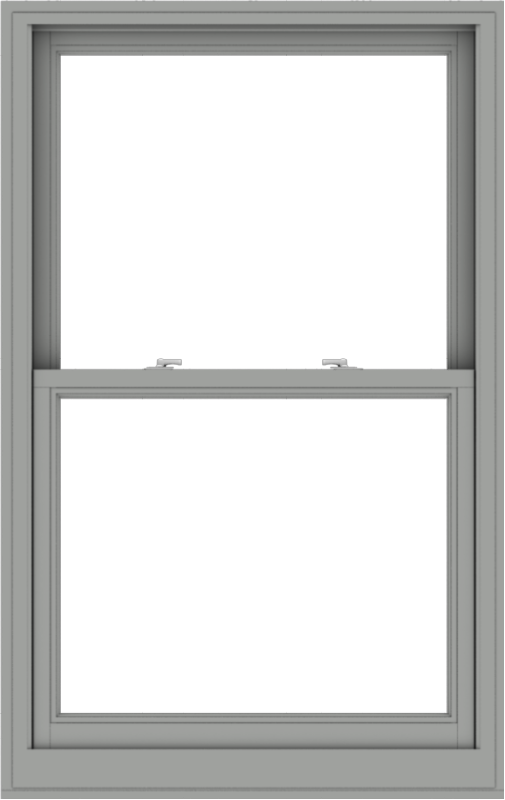 WDMA 36x57 (35.5 x 56.5 inch)  Aluminum Single Double Hung Window without Grids-1