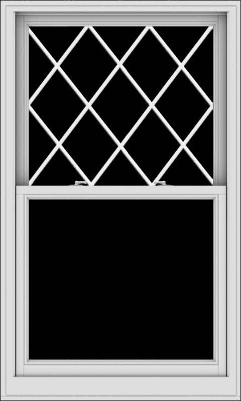 WDMA 36x60 (35.5 x 59.5 inch)  Aluminum Single Double Hung Window with Diamond Grids