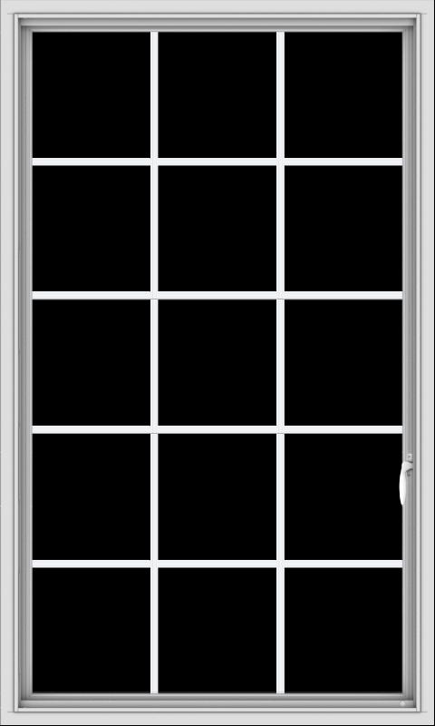 WDMA 36x60 (35.5 x 59.5 inch) White uPVC Vinyl Push out Casement Window without Grids