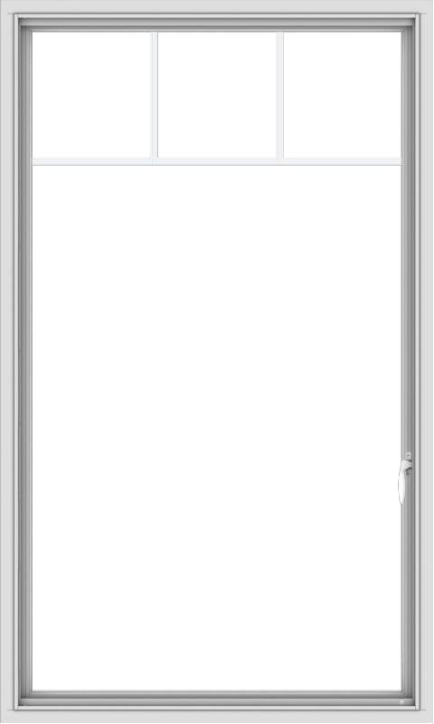 WDMA 36x60 (35.5 x 59.5 inch) White uPVC Vinyl Push out Casement Window with Fractional Grilles