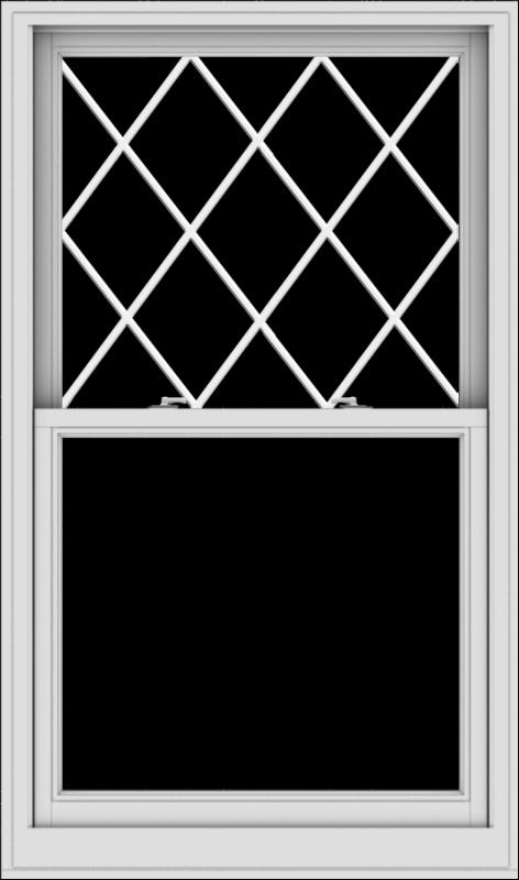 WDMA 36x61 (35.5 x 60.5 inch)  Aluminum Single Double Hung Window with Diamond Grids