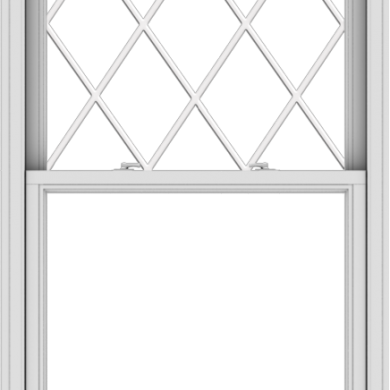 WDMA 36x66 (35.5 x 65.5 inch)  Aluminum Single Double Hung Window with Diamond Grids