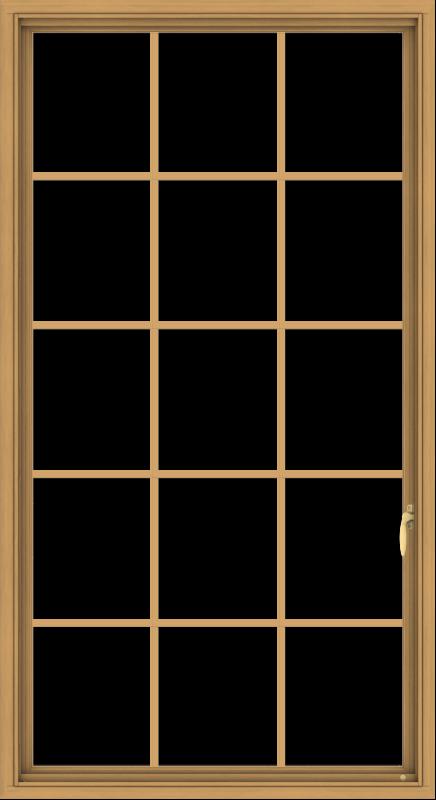 WDMA 36x66 (35.5 x 65.5 inch) Pine Wood Light Grey Aluminum Push out Casement Window without Grids