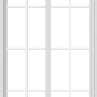 WDMA 36x66 (35.5 x 65.5 inch) Vinyl uPVC White Slide Window with Colonial Grids Exterior