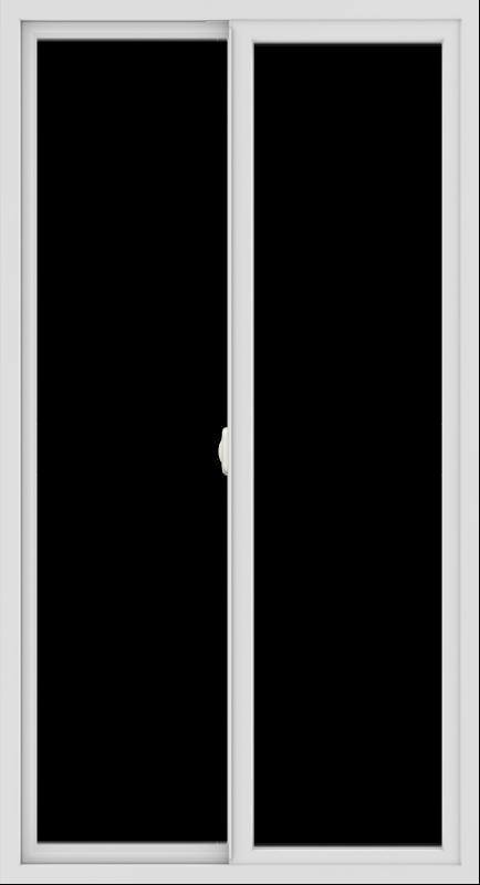 WDMA 36x66 (35.5 x 65.5 inch) Vinyl uPVC White Slide Window without Grids Interior