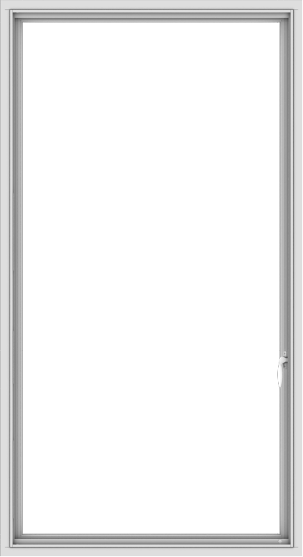 WDMA 36x66 (35.5 x 65.5 inch) White uPVC Vinyl Push out Casement Window with Colonial Grids Interior
