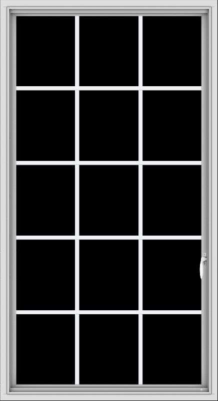 WDMA 36x66 (35.5 x 65.5 inch) White uPVC Vinyl Push out Casement Window without Grids