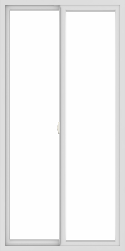 WDMA 36x72 (35.5 x 71.5 inch) Vinyl uPVC White Slide Window without Grids Interior