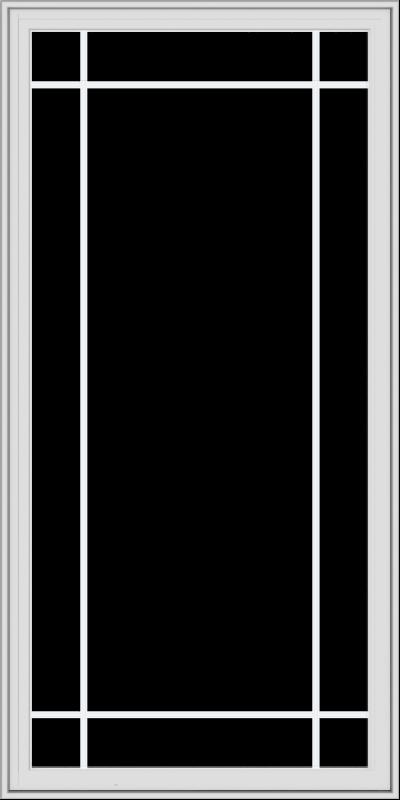 WDMA 36x72 (35.5 x 71.5 inch) White Vinyl UPVC Crank out Casement Window with Prairie Grilles