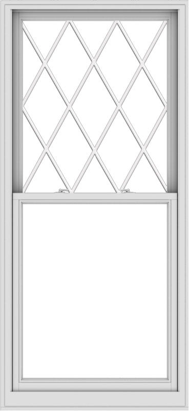 WDMA 36x78 (35.5 x 77.5 inch)  Aluminum Single Double Hung Window with Diamond Grids