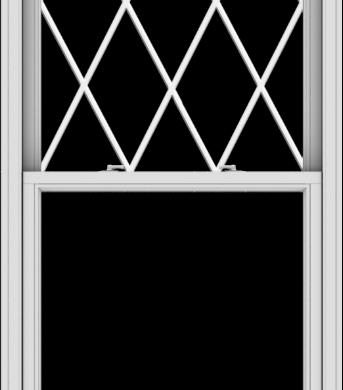 WDMA 36x84 (35.5 x 83.5 inch)  Aluminum Single Double Hung Window with Diamond Grids