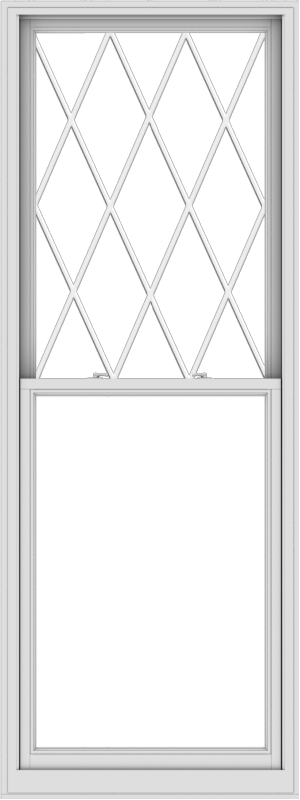WDMA 36x96 (35.5 x 95.5 inch)  Aluminum Single Double Hung Window with Diamond Grids