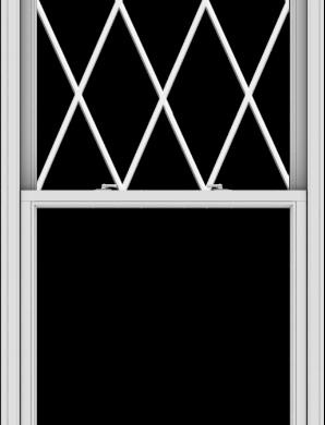 WDMA 38x102 (37.5 x 101.5 inch)  Aluminum Single Double Hung Window with Diamond Grids