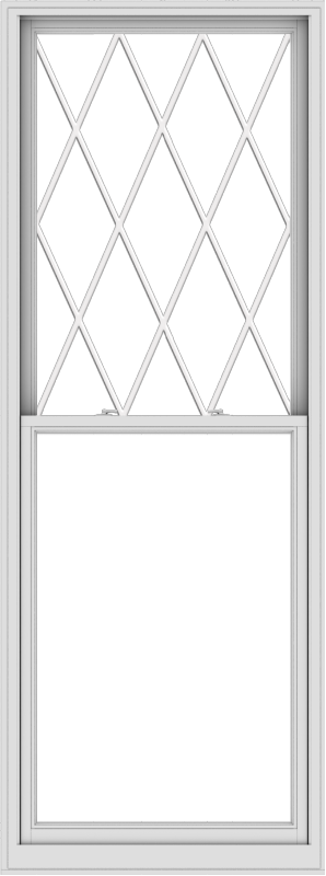 WDMA 38x102 (37.5 x 101.5 inch)  Aluminum Single Double Hung Window with Diamond Grids
