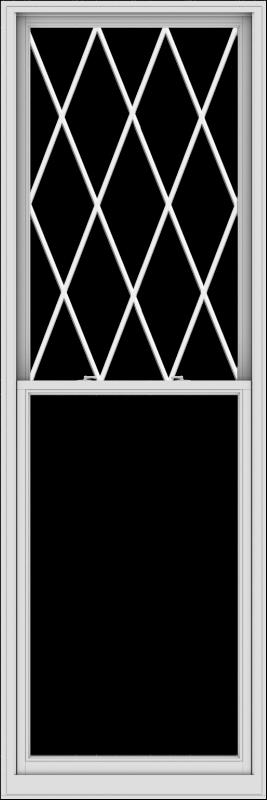 WDMA 38x114 (37.5 x 113.5 inch)  Aluminum Single Double Hung Window with Diamond Grids
