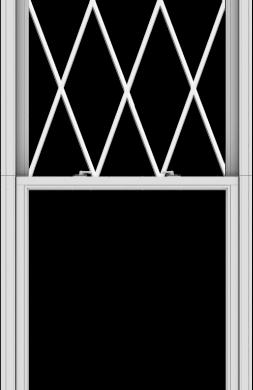 WDMA 38x120 (37.5 x 119.5 inch)  Aluminum Single Double Hung Window with Diamond Grids