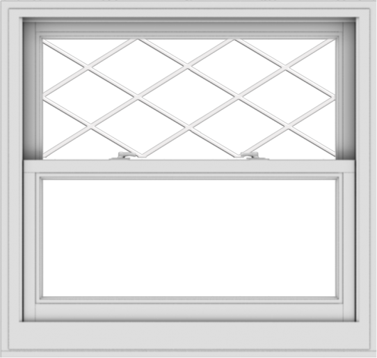 WDMA 38x36 (37.5 x 35.5 inch)  Aluminum Single Double Hung Window with Diamond Grids