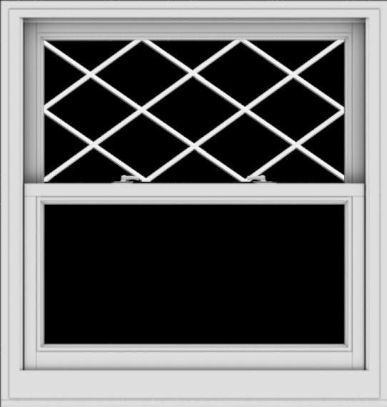WDMA 38x40 (37.5 x 39.5 inch)  Aluminum Single Double Hung Window with Diamond Grids