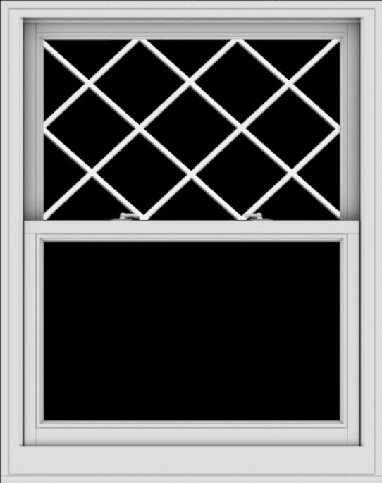 WDMA 38x48 (37.5 x 47.5 inch)  Aluminum Single Double Hung Window with Diamond Grids
