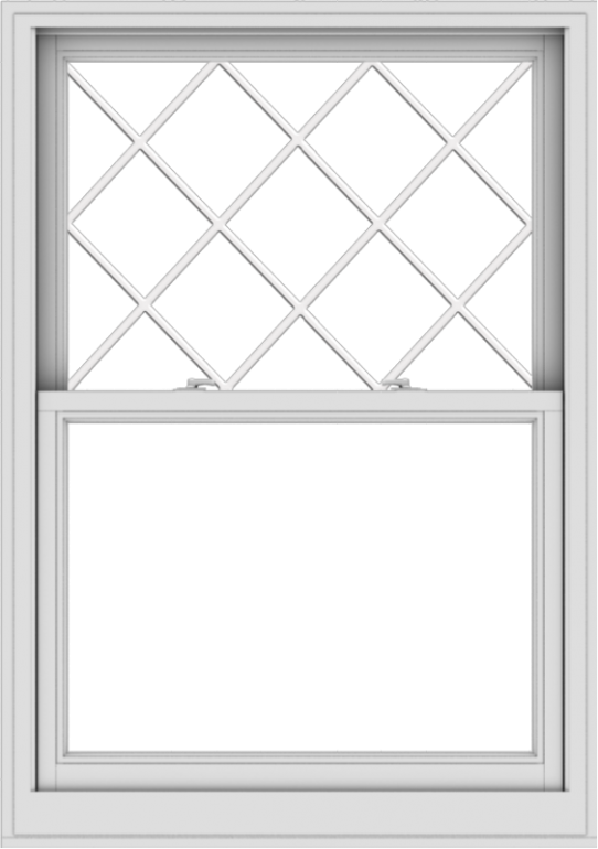 WDMA 38x54 (37.5 x 53.5 inch)  Aluminum Single Double Hung Window with Diamond Grids