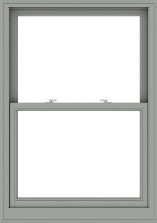 WDMA 38x54 (37.5 x 53.5 inch)  Aluminum Single Double Hung Window without Grids-1