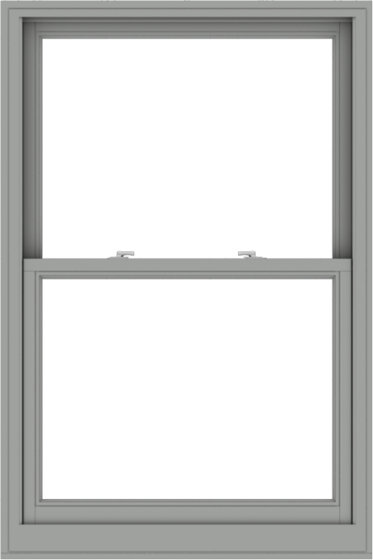 WDMA 38x57 (37.5 x 56.5 inch)  Aluminum Single Double Hung Window without Grids-1