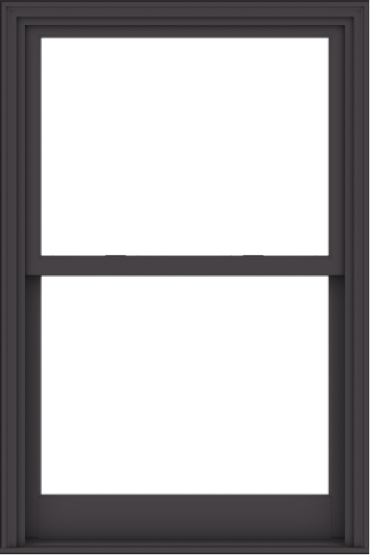 WDMA 38x57 (37.5 x 56.5 inch)  Aluminum Single Hung Double Hung Window without Grids-3