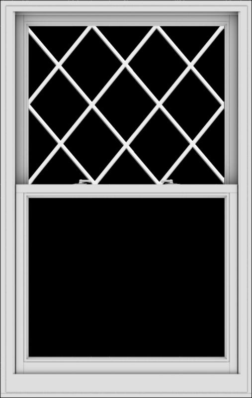WDMA 38x60 (37.5 x 59.5 inch)  Aluminum Single Double Hung Window with Diamond Grids