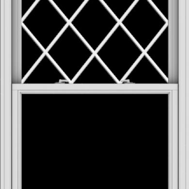 WDMA 38x61 (37.5 x 60.5 inch)  Aluminum Single Double Hung Window with Diamond Grids
