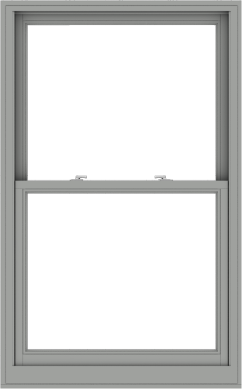 WDMA 38x61 (37.5 x 60.5 inch)  Aluminum Single Double Hung Window without Grids-1