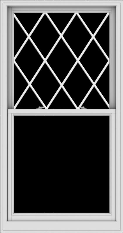 WDMA 38x72 (37.5 x 71.5 inch)  Aluminum Single Double Hung Window with Diamond Grids