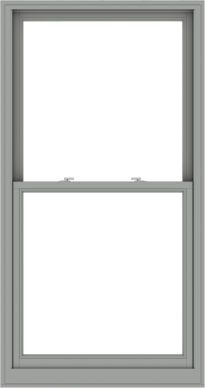 WDMA 38x72 (37.5 x 71.5 inch)  Aluminum Single Double Hung Window without Grids-1