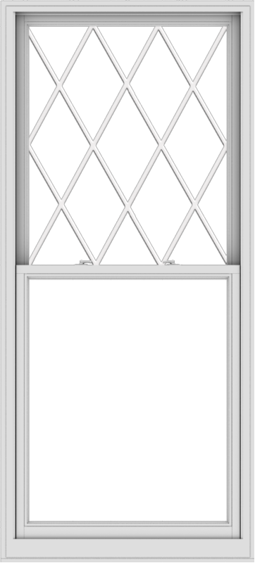 WDMA 38x84 (37.5 x 83.5 inch)  Aluminum Single Double Hung Window with Diamond Grids