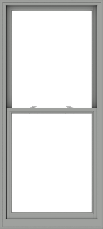WDMA 38x84 (37.5 x 83.5 inch)  Aluminum Single Double Hung Window without Grids-1