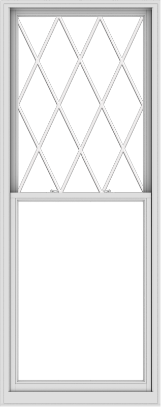 WDMA 38x96 (37.5 x 95.5 inch)  Aluminum Single Double Hung Window with Diamond Grids