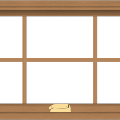 WDMA 40x20 (39.5 x 19.5 inch) Oak Wood Dark Brown Bronze Aluminum Crank out Awning Window with Colonial Grids Interior