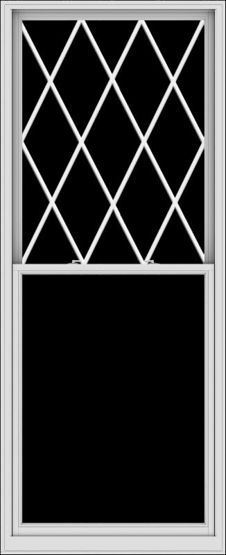 WDMA 44x108 (43.5 x 107.5 inch)  Aluminum Single Double Hung Window with Diamond Grids