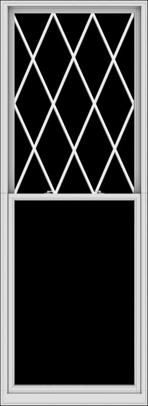 WDMA 44x120 (43.5 x 119.5 inch)  Aluminum Single Double Hung Window with Diamond Grids