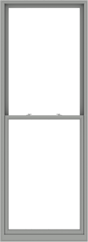WDMA 44x120 (43.5 x 119.5 inch)  Aluminum Single Double Hung Window without Grids-1