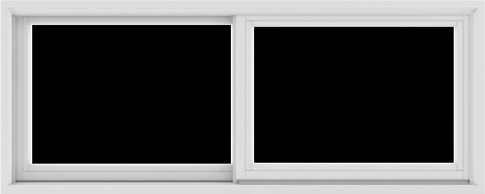 WDMA 60X24 (59.5 x 23.5 inch) White uPVC/Vinyl Sliding Window without Grids Exterior