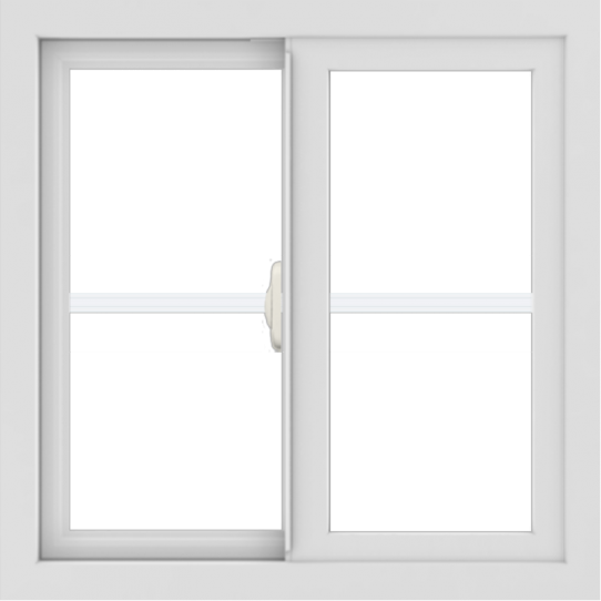 WDMA 24x24 (23.5 x 23.5 inch) White Aluminum Slide Window with Colonial Grilles