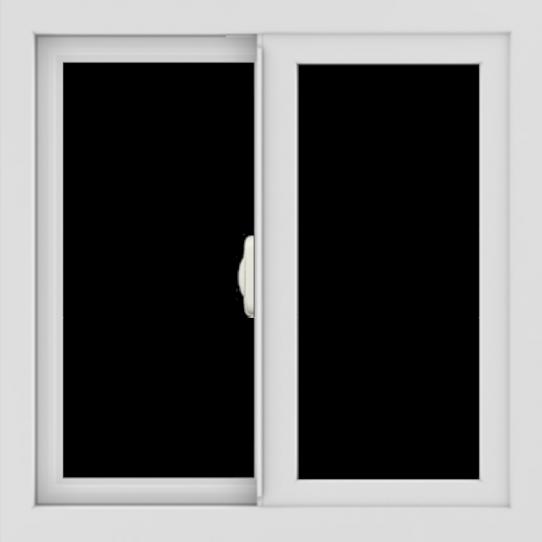 WDMA 24x24 (23.5 x 23.5 inch) black uPVC/Vinyl Slide Window without Grids Interior