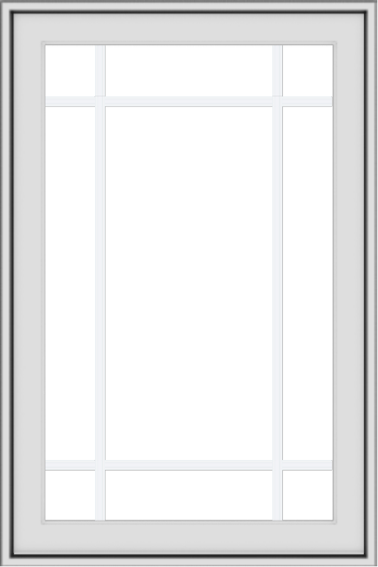 WDMA 24x36 (23.5 x 35.5 inch) White aluminum Push out Awning Window with Prairie Grilles