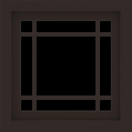 WDMA 24x24 (23.5 x 23.5 inch) Dark Bronze Aluminum Picture Window with Prairie Grilles