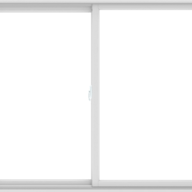 WDMA 72X60 (71.5 x 59.5 inch) White uPVC/Vinyl Sliding Window without Grids Interior