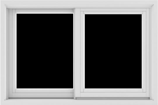 WDMA 36X24 (35.5 x 23.5 inch) White uPVC/Vinyl Sliding Window without Grids Exterior