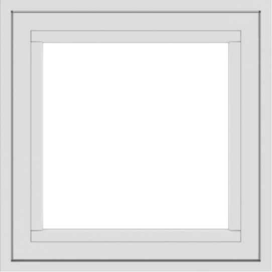 WDMA 24x24 (23.5 x 23.5 inch) White uPVC/Vinyl Crank out Awning Window without grids exterior